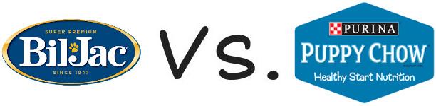 Bil Jac vs Purina Puppy Chow