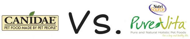 Canidae vs Pure Vita