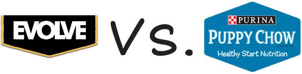 Evolve vs Purina Puppy Chow