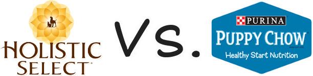 Holistic Select vs Purina Puppy Chow