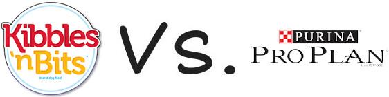 Kibbles 'n Bits vs Purina Pro Plan