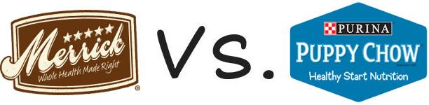 Merrick vs Purina Puppy Chow