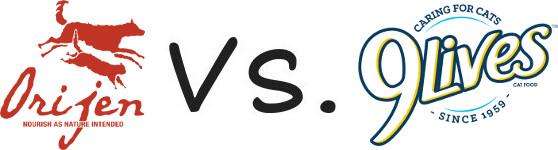 Orijen vs 9 Lives
