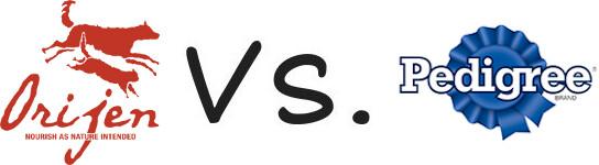 Orijen vs Pedigree