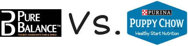 Pure Balance vs Purina Puppy Chow