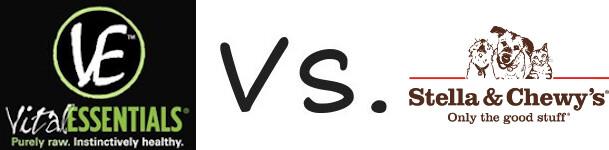 Vital Essentials vs Stella and Chewy's