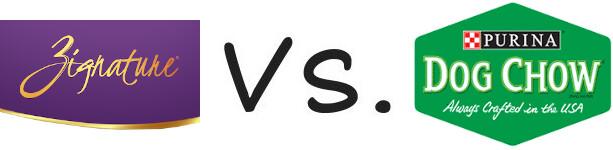 Zignature vs Purina Dog Chow