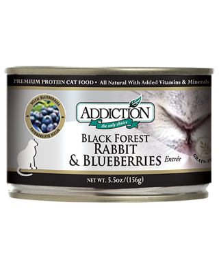 Addiction Canned Cat Food Black Forest Rabbit and Blueberries Entree