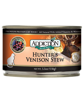 Addiction Canned Cat Food Hunter's Venison Stew