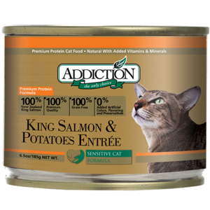 Addiction Canned Cat Food King Salmon & Potatoes Entree