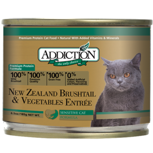 Addiction Canned Cat Food New Zealand Brushtail & Vegetables Entree