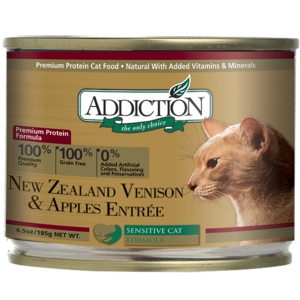 Addiction Canned Cat Food New Zealand Venison & Apples Entree