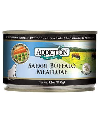 Addiction Canned Cat Food Safari Buffalo Meatloaf