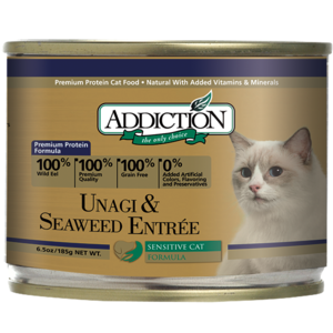 Addiction Canned Cat Food Unagi & Seaweed Entree