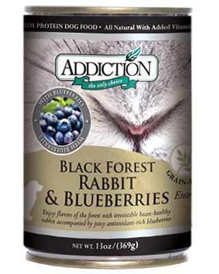 Addiction Canned Dog Food Black Forest Rabbit & Blueberries Entree