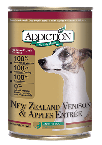 Addiction Canned Dog Food New Zealand Venison & Apples Entree