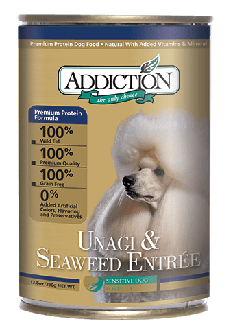 Addiction Canned Dog Food Unagi & Seaweed Entree