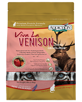 Addiction Dry Cat Food Viva La Venison