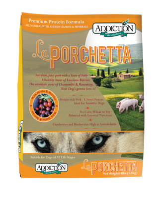Addiction Dry Dog Food La Porchetta