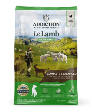 Addiction Dry Dog Food Le Lamb