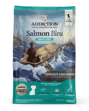 Addiction Dry Dog Food Salmon Bleu Puppy Formula