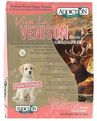 Addiction Dry Dog Food Viva La Venison Puppy Formula