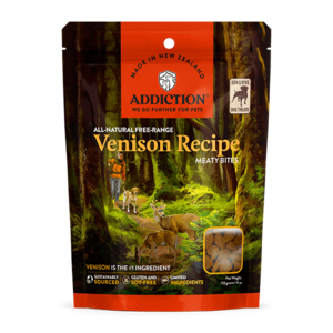Addiction Meaty Bites Treats Free-Range Venison Recipe