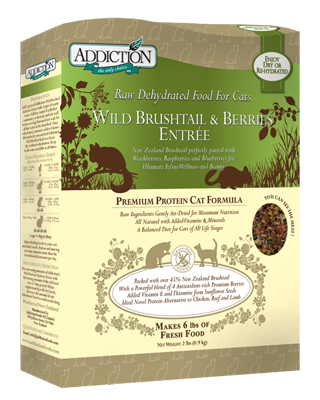 Addiction Raw Dehydrated Cat Food Wild Brushtail & Berries Entree