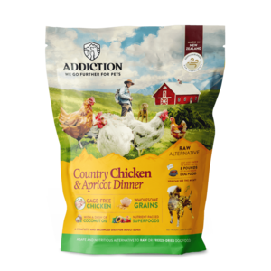 Addiction Raw Dehydrated Dog Food Country Chicken & Apricot Dinner