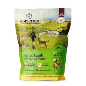 Addiction Raw Dehydrated Dog Food Herbed Lamb & Potatoes Entree