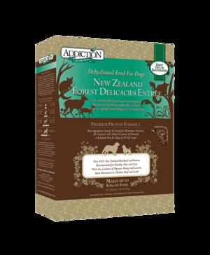 Addiction Raw Dehydrated Dog Food New Zealand Forest Delicacies