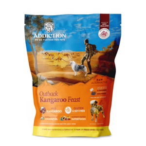 Addiction Raw Dehydrated Dog Food Outback Kangaroo Feast