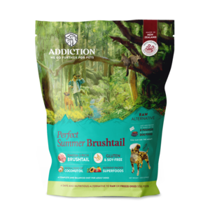 Addiction Raw Dehydrated Dog Food Perfect Summer Brushtail