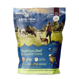 Addiction Raw Dehydrated Dog Food Steakhouse Beef & Zucchini Entree