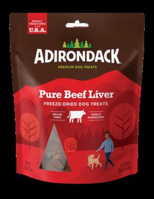 Adirondack Freeze-Dried Dog Treats Pure Beef Liver