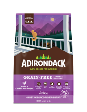 Adirondack Grain-Free Limited Ingredient Chicken & Chicken Meal Recipe For Indoor Cats