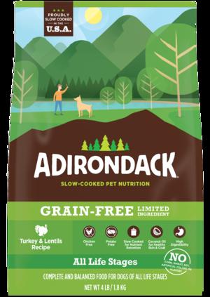 Adirondack Grain-Free Limited Ingredient Turkey & Lentils Recipe For Dogs