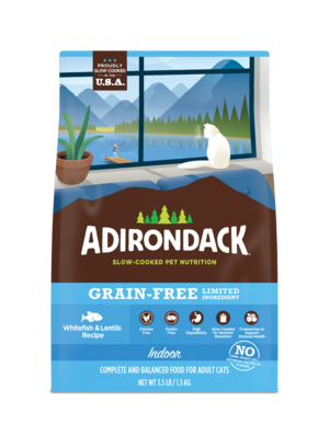 Adirondack Grain-Free Limited Ingredient Whitefish & Lentils Recipe For Indoor Cats