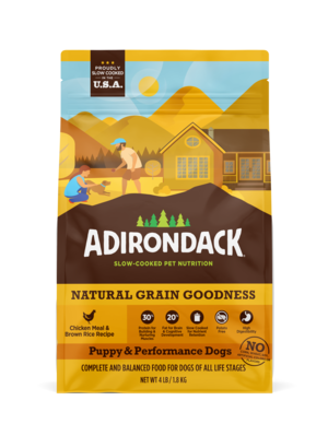 Adirondack Natural Grain Goodness Chicken Meal & Brown Rice Recipe (Puppy & Performance Dogs)
