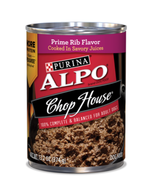 Alpo Chop House Prime Rib Flavor Cooked In Savory Juices