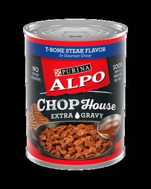 Alpo Chop House T-Bone Steak Flavor In Gourmet Gravy