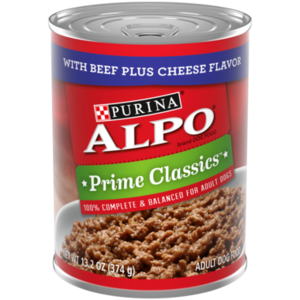 Alpo Prime Classics With Beef Plus Bacon & Cheese Flavors