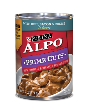 Alpo Prime Cuts With Beef, Bacon & Cheese In Gravy