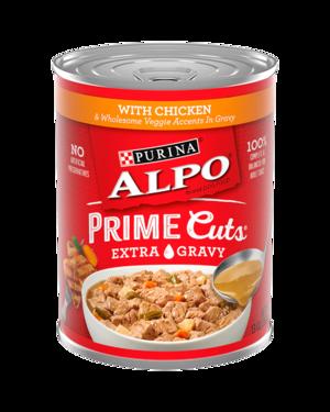 Alpo Prime Cuts With Chicken & Wholesome Veggie Accents In Gravy