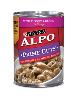 Alpo Prime Cuts With Turkey & Bacon In Gravy