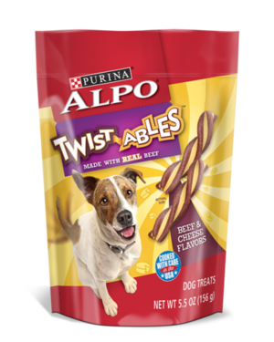 Alpo Twist-ables Beef & Cheese Flavors