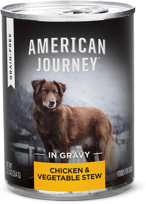 American Journey Grain Free Canned Dog Food Chicken Vegetable