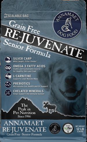 Annamaet Dry Dog Food Grain Free Re-Juvenate Senior Formula