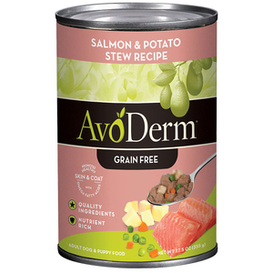 AvoDerm Grain Free Stew Salmon & Potato Stew Recipe