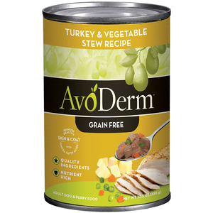 AvoDerm Grain Free Stew Turkey & Vegetable Stew Recipe